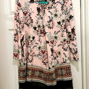 Gorgeous pink floral tunic